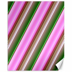 Pink And Green Abstract Pattern Background Canvas 11  x 14