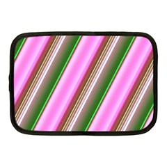 Pink And Green Abstract Pattern Background Netbook Case (Medium)