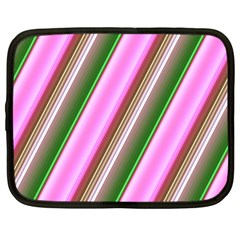 Pink And Green Abstract Pattern Background Netbook Case (Large)