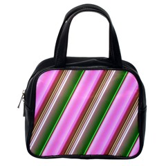 Pink And Green Abstract Pattern Background Classic Handbags (one Side)