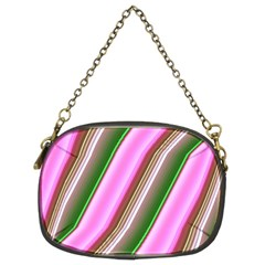 Pink And Green Abstract Pattern Background Chain Purses (Two Sides)