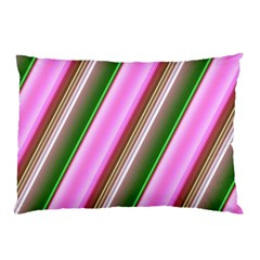 Pink And Green Abstract Pattern Background Pillow Case