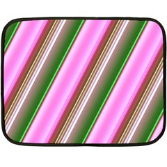 Pink And Green Abstract Pattern Background Double Sided Fleece Blanket (Mini)