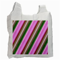 Pink And Green Abstract Pattern Background Recycle Bag (One Side)