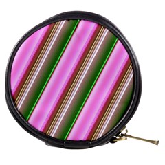 Pink And Green Abstract Pattern Background Mini Makeup Bags