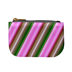 Pink And Green Abstract Pattern Background Mini Coin Purses