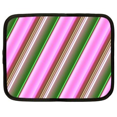 Pink And Green Abstract Pattern Background Netbook Case (XXL)