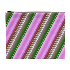 Pink And Green Abstract Pattern Background Cosmetic Bag (xl)