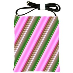 Pink And Green Abstract Pattern Background Shoulder Sling Bags