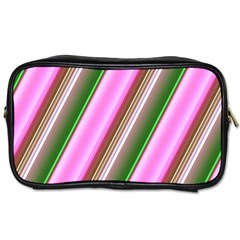 Pink And Green Abstract Pattern Background Toiletries Bags 2 Side