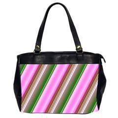 Pink And Green Abstract Pattern Background Office Handbags (2 Sides)