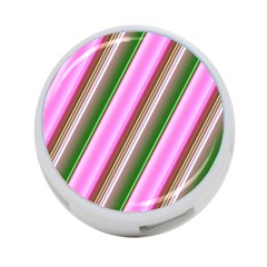 Pink And Green Abstract Pattern Background 4-Port USB Hub (One Side)