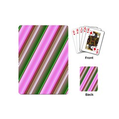 Pink And Green Abstract Pattern Background Playing Cards (Mini)
