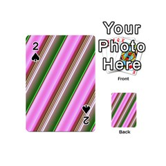 Pink And Green Abstract Pattern Background Playing Cards 54 (Mini)