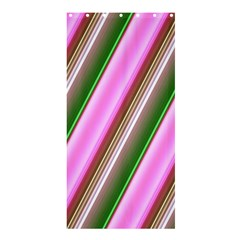 Pink And Green Abstract Pattern Background Shower Curtain 36  x 72  (Stall)