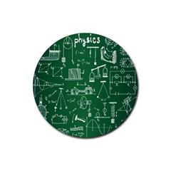 Scientific Formulas Board Green Rubber Coaster (Round)