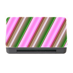 Pink And Green Abstract Pattern Background Memory Card Reader with CF