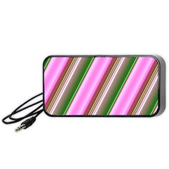 Pink And Green Abstract Pattern Background Portable Speaker (Black)