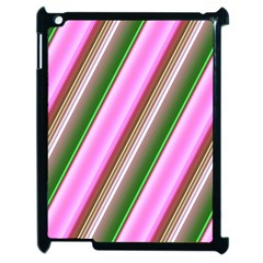 Pink And Green Abstract Pattern Background Apple Ipad 2 Case (black)