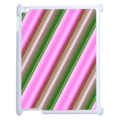 Pink And Green Abstract Pattern Background Apple Ipad 2 Case (white)