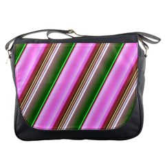 Pink And Green Abstract Pattern Background Messenger Bags