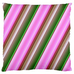 Pink And Green Abstract Pattern Background Large Cushion Case (one Side)