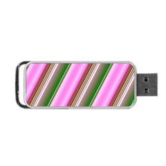 Pink And Green Abstract Pattern Background Portable Usb Flash (one Side)