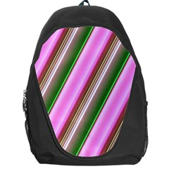 Pink And Green Abstract Pattern Background Backpack Bag