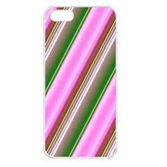 Pink And Green Abstract Pattern Background Apple iPhone 5 Seamless Case (White)