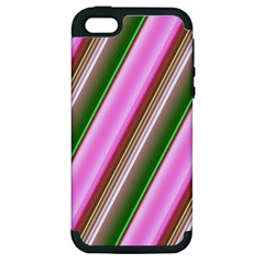 Pink And Green Abstract Pattern Background Apple iPhone 5 Hardshell Case (PC+Silicone)