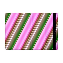 Pink And Green Abstract Pattern Background Apple iPad Mini Flip Case