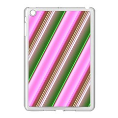 Pink And Green Abstract Pattern Background Apple iPad Mini Case (White)