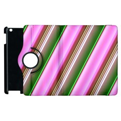 Pink And Green Abstract Pattern Background Apple Ipad 3/4 Flip 360 Case