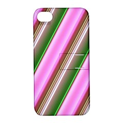 Pink And Green Abstract Pattern Background Apple Iphone 4/4s Hardshell Case With Stand