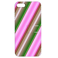 Pink And Green Abstract Pattern Background Apple Iphone 5 Hardshell Case With Stand