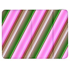 Pink And Green Abstract Pattern Background Samsung Galaxy Tab 7  P1000 Flip Case