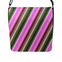 Pink And Green Abstract Pattern Background Flap Messenger Bag (l)