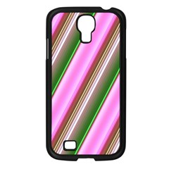 Pink And Green Abstract Pattern Background Samsung Galaxy S4 I9500/ I9505 Case (Black)