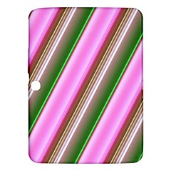 Pink And Green Abstract Pattern Background Samsung Galaxy Tab 3 (10 1 ) P5200 Hardshell Case