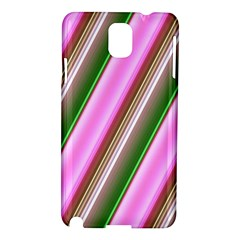 Pink And Green Abstract Pattern Background Samsung Galaxy Note 3 N9005 Hardshell Case