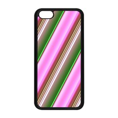 Pink And Green Abstract Pattern Background Apple iPhone 5C Seamless Case (Black)