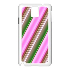 Pink And Green Abstract Pattern Background Samsung Galaxy Note 3 N9005 Case (White)