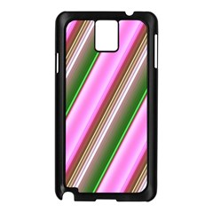 Pink And Green Abstract Pattern Background Samsung Galaxy Note 3 N9005 Case (black)