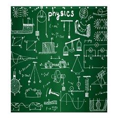 Scientific Formulas Board Green Shower Curtain 66  x 72  (Large)