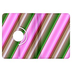 Pink And Green Abstract Pattern Background Kindle Fire Hdx Flip 360 Case