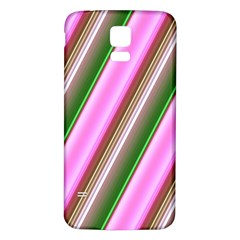 Pink And Green Abstract Pattern Background Samsung Galaxy S5 Back Case (White)