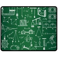 Scientific Formulas Board Green Fleece Blanket (Medium)