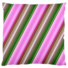 Pink And Green Abstract Pattern Background Large Flano Cushion Case (One Side)