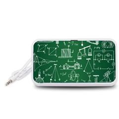 Scientific Formulas Board Green Portable Speaker (White)