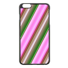 Pink And Green Abstract Pattern Background Apple iPhone 6 Plus/6S Plus Black Enamel Case
